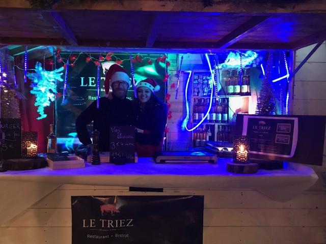 Le Triez Marché de Noël, Mouvaux, restaurant, lille, hauts de france, burger au foie gras, le triez, alex liem
