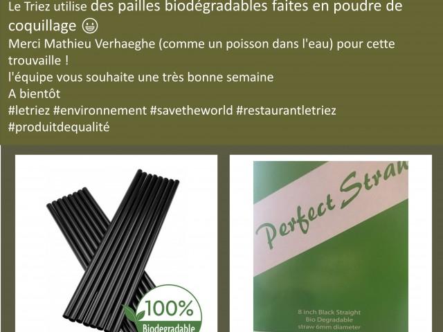 Le Triez Pailles biodégradables :)