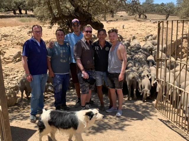 Le Triez Visite à Jabugo (Espagne) du producteur de cochons élevés en pleine nature :)